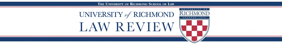 University of Richmond Law Review Symposium
