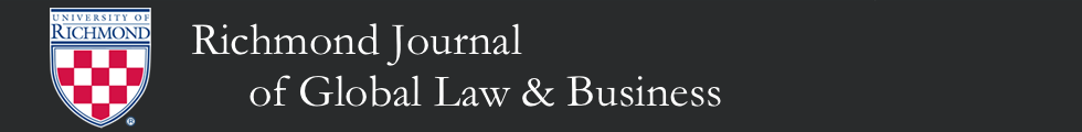 Richmond Journal of Global Law & Business Header