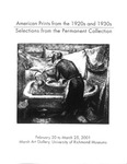 American Prints from the 1920s and 1930s: Selections from the Permanent Collection