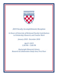 2019 Faculty Accomplishments Reception by University of Richmond