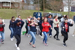 Practicing Flash Mob at Visitor Parking Lot by New Fraternity Row by Patricia Herrera and Mariela Méndez