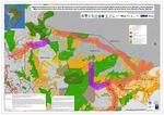 Mapa de Infraestructura Vial y Área de Influencia en las Fronteras Amazónicas entre Ucayali, Madre de Dios (Perú), Acre (Brasil) y Pando (Bolivia)