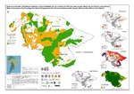 Mapa de Amenazas a Territorios Indígenas y Áreas protegidas en las fronteras amazónicas en Ucayali y Madre de Dios (Perú) y Acre (Brasil)