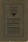 Bulletin of Richmond College: Catalogue of the Law School for 1906-1907
