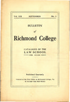 Bulletin of Richmond College: Catalogue of the Law School for 1917-1918