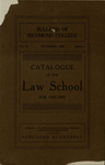 Bulletin of Richmond College: Catalogue of the Law School for 1908-1909