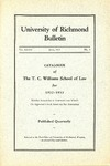 University of Richmond Bulletin: Catalogue of the T.C. Williams School of Law for 1932-1933