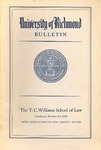 University of Richmond Bulletin: Catalog of the T.C. Williams School of Law for 1959-1960