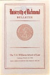 University of Richmond Bulletin: Catalog of the T.C. Williams School of Law for 1960-1961