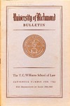 University of Richmond Bulletin: Catalog of the T.C. Williams School of Law for 1968-1969