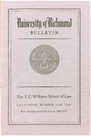 University of Richmond Bulletin: Catalog of the T.C. Williams School of Law for 1969-1970