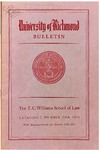 University of Richmond Bulletin: Catalog of the T.C. Williams School of Law for 1970-1971