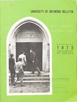 University of Richmond Bulletin: Catalog of the T.C. Williams School of Law for 1972-1973