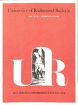 University of Richmond Bulletin: Catalog of the T.C. Williams School of Law for 1973-1974