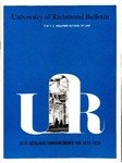 University of Richmond Bulletin: Catalog of the T.C. Williams School of Law for 1978-1979