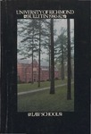 University of Richmond Bulletin: Catalog of the T.C. Williams School of Law for 1980-1982 by University of Richmond