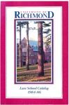 University of Richmond Bulletin: Catalog of the T.C. Williams School of Law for 1984-1986