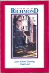 University of Richmond Bulletin: Catalog of the T.C. Williams School of Law for 1986-1988
