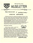 Museletter: March 1991