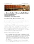 e-Museletter: April 2015 -- Graduate Edition by Kathleen Klepfer