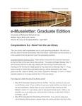 e-Museletter: April 2015 -- Graduate Edition