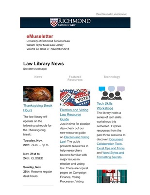 Museletter | Muse Law Library History & Publications | University of